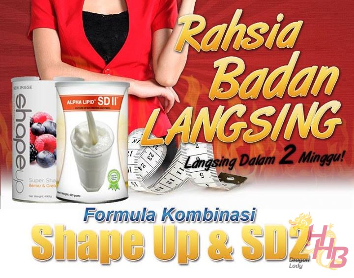 berdiet dengan alpha lipid shape up dan alpha lipid sd2