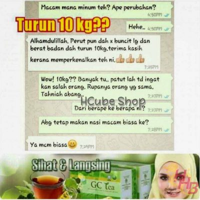 testimoni review gc tea glucos cut